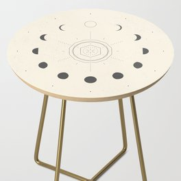 Moon Phases Light Side Table