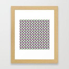 Abstract ultra violet green geometric quatrefoil pattern Framed Art Print