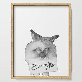 be hoppy - bunny rabbit Serving Tray