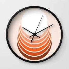 Red Rock Crescent Wall Clock