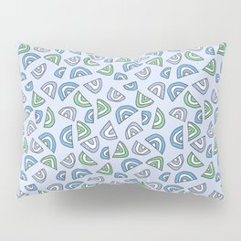 Rainbow Love - Blue and Green Pillow Sham
