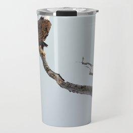 Bald Eagle in the tree Travel Mug