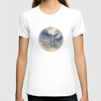 mountains T-shirts featuring Tulle Mountains by Klara Acel