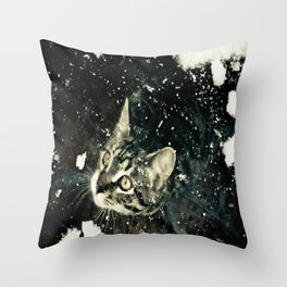 Intrigued  Throw Pillow