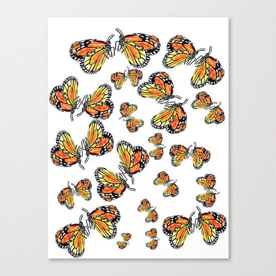 Monarch Butterflies Canvas Print