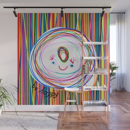 Be Happy | Smile | Stay Child | Kids Painting Wall Mural
