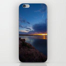 Bluewater Lake Sunset iPhone Skin