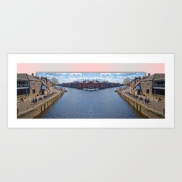York. The River Ouse double take. Art Print