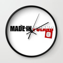 Made in Poland, patriotic shirts, country proud tee shirt design Wall Clock