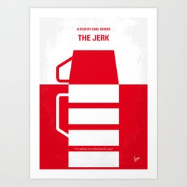 No350 My The Jerk minimal movie poster Art Print