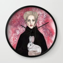 girl with the rabbit Wall Clock