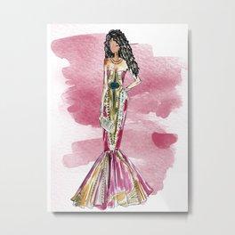 Date Night (pink version splash) Metal Print