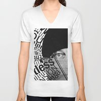 anxiety V-neck T-shirts featuring Anxiety by Callen Guidry