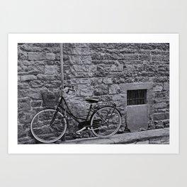 Lonely Bike (Florence) Art Print