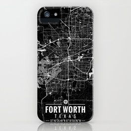 Fort Worth Texas Map iPhone Case