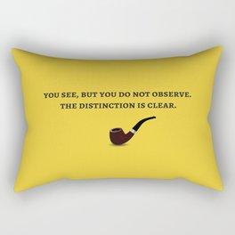 Sherlock Holmes Quote III Rectangular Pillow