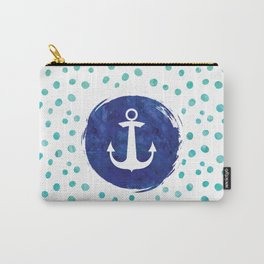 Watercolor Ship's Anchor Carry-All Pouch
