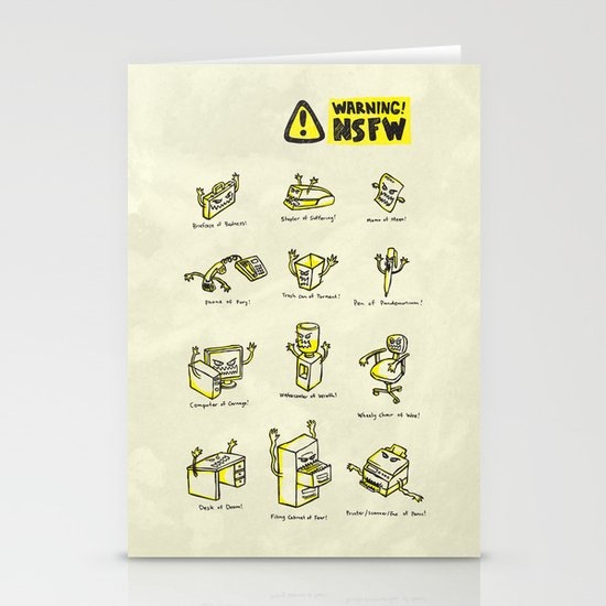 Not Safe For Work Stationery Cards