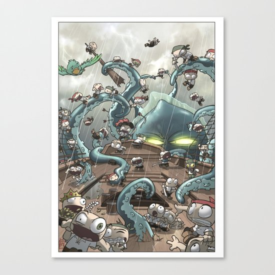 Revenge of the Kracken Canvas Print