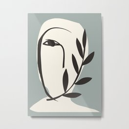 Abstract Minimal Art / Face 5a Metal Print