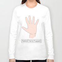 naked Long Sleeve T-shirts featuring Naked by Digital Sketch