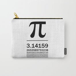 Pi Typography Art Carry-All Pouch