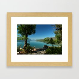 Moody Lake McDonald Framed Art Print
