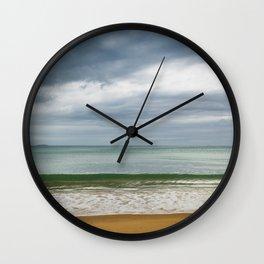 Stormy Beach Wall Clock