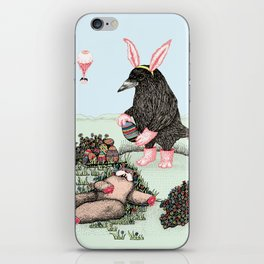 Crow Serie :: Easter Crow iPhone Skin