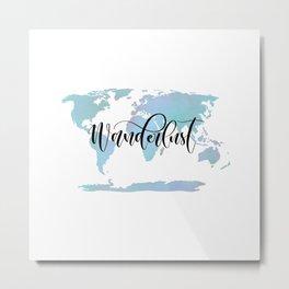 Wanderlust (blue/lilac) Metal Print