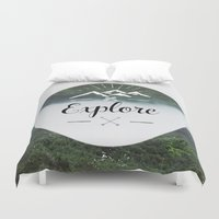explore Duvet Covers featuring Explore by Quellasenzanick