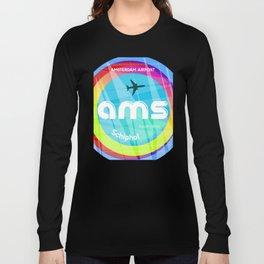 AMS Amsterdam airport Long Sleeve T-shirt