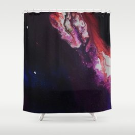 Cosmic Artwork Original Painting. Abstract Space by Jodi Tomer Shower Curtain