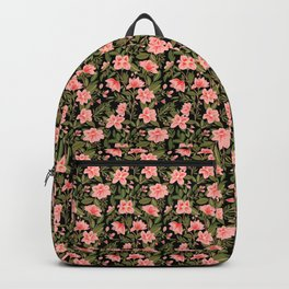 Tropical Pink Floral Pattern Backpack