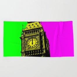 Big Ben - In all her coloured glory... Beach Towel