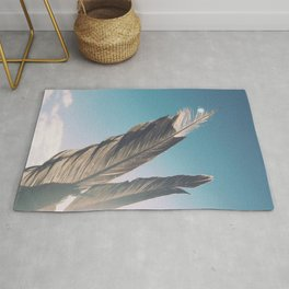 Brown Feathers Rug