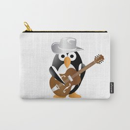 Funny penguin with guitar Carry-All Pouch