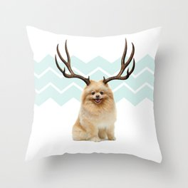 Puppy&Antlers Throw Pillow