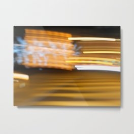 Light Painting Metal Print