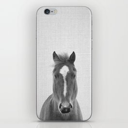 Horse II - Black & White iPhone Skin
