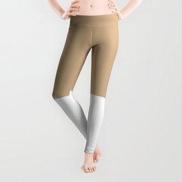 Tan-White Leggings