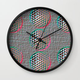 SHADES OF GREY #GOLFBALLS Wall Clock