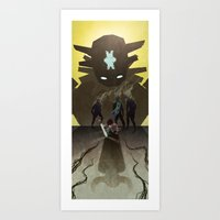 shadow of the colossus Art Prints featuring Shadow of the Colossus - Illustration by Kim Herbst
