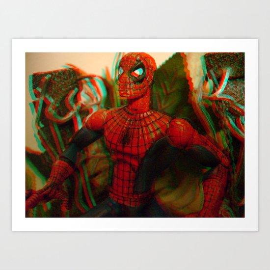 Spider-Man [In Anaglyph 3D] Art Print