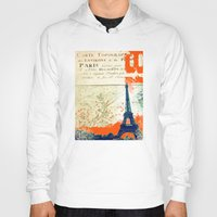 paris map Hoodies featuring Paris by Kimball Gray