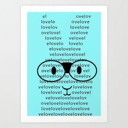 Loverabbit Art Print