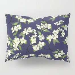 April blooms(Dogwoods_blue) Pillow Sham