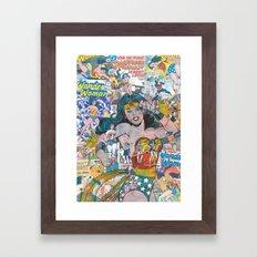 Vintage Comic WonderWoman Framed Art Print
