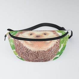 hedgehog in a field of clover Fanny Pack