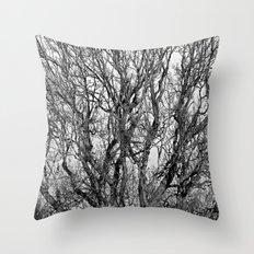 Trees of Black and White! Throw Pillow